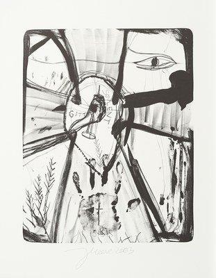 Jonathan Meese Der Isisgott Grafik Lithografie