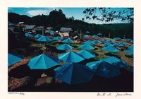 Christo and Jeanne-Claude Umbrellas Jinba Blue Photograph