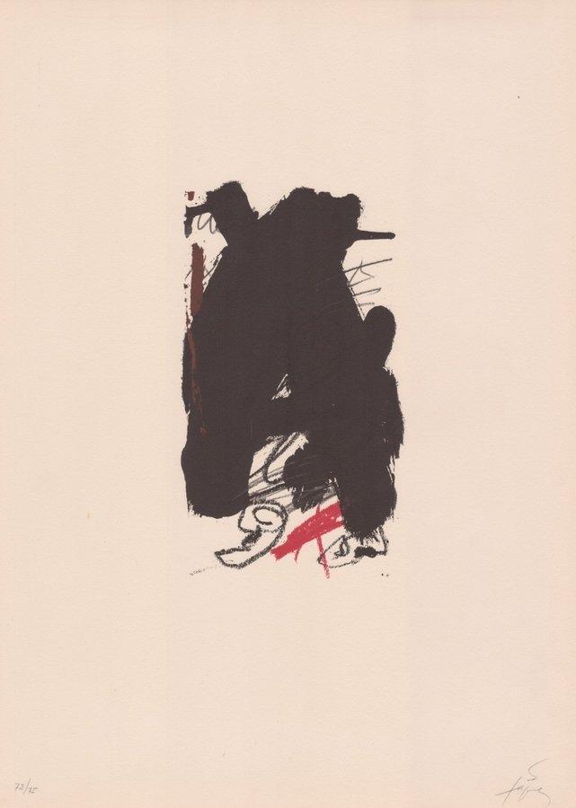 Antoni Tapies Druck Original Grafik Clau del Foc VI