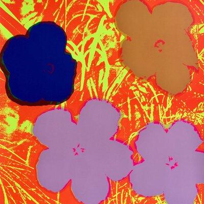 Andy Warhol Flowers Braun Rot Siebdruck Sunday B. Morning