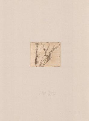 Joseph Beuys Hirschschädel Tränen Radierung