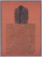 Rafael Canogar Druck Grafik Studie für ein Monument