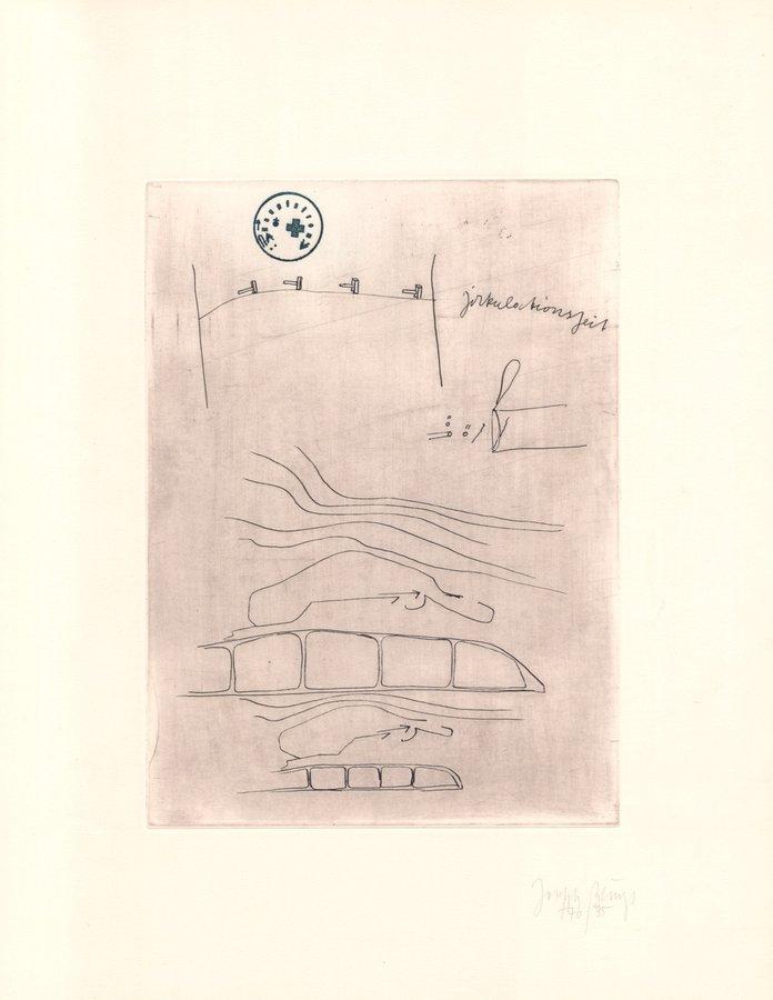 Joseph Beuys Grafik Zirkulationszeit: Zirkulationszeit