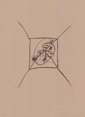 Antoni Tapies Original Print Llambrec Material IX