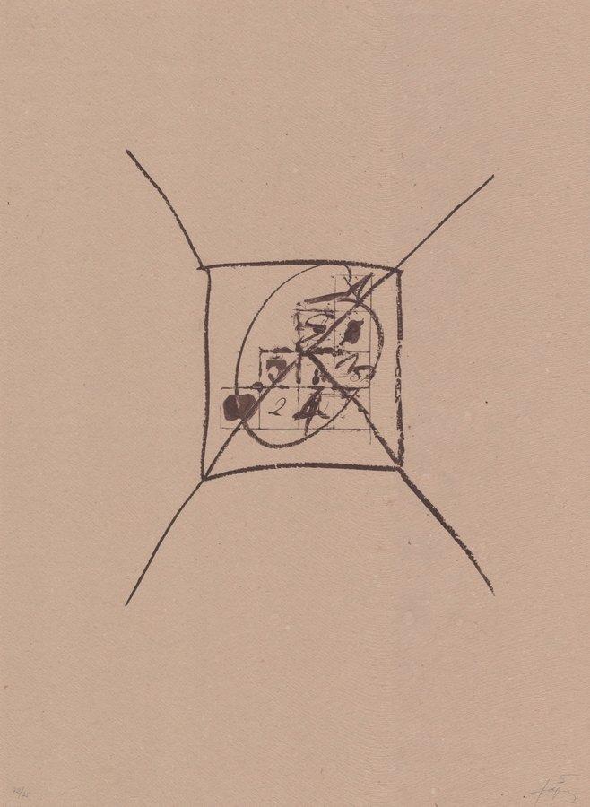 Antoni Tapies Original Grafik Llambrec material IX