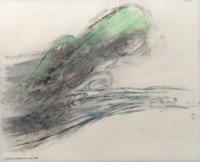 Leiko Ikemura Zeichnung Wellen - Wind – Wesen III