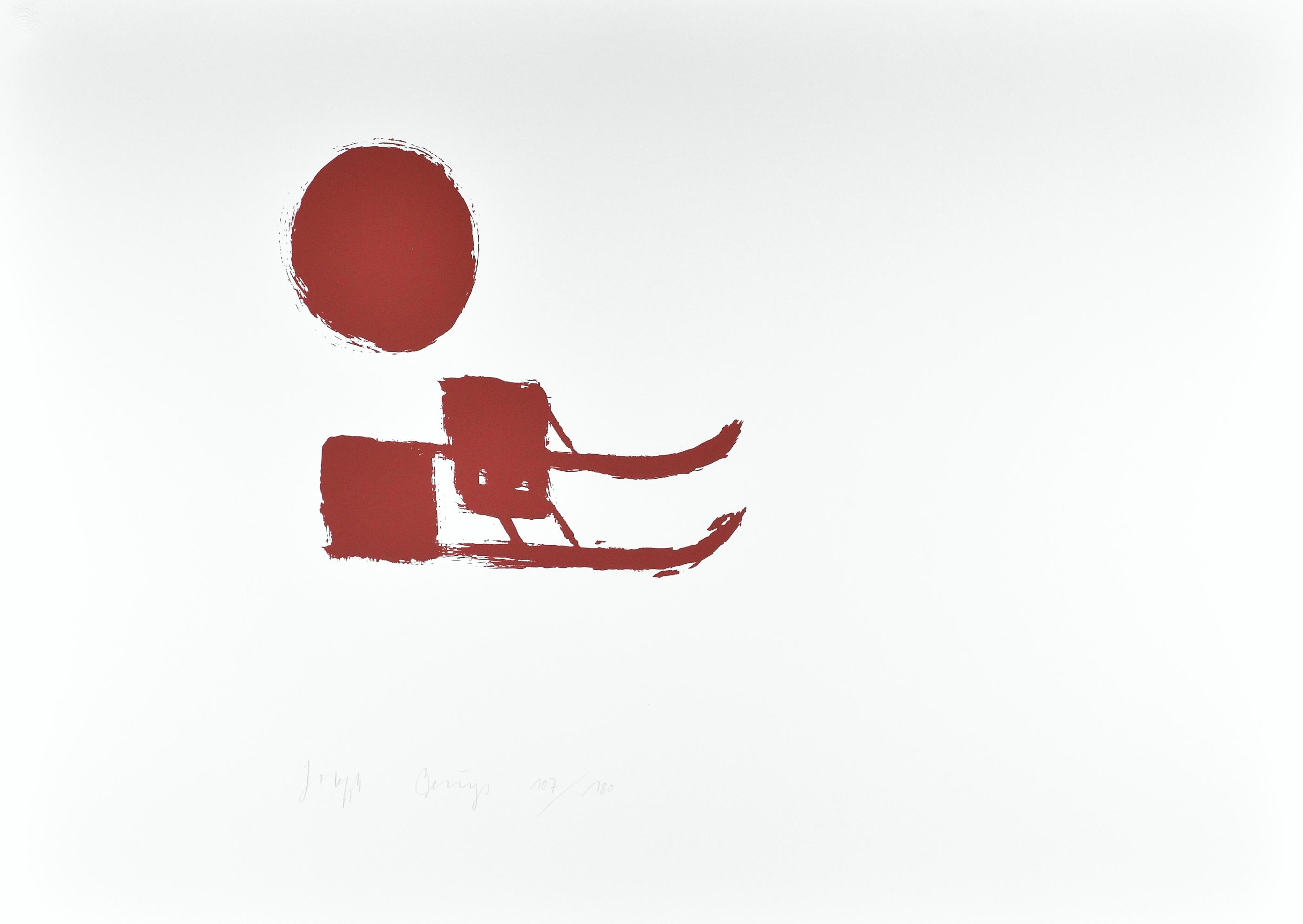 joseph beuys grafik sonnenschlitten kaufen i artedio. Black Bedroom Furniture Sets. Home Design Ideas