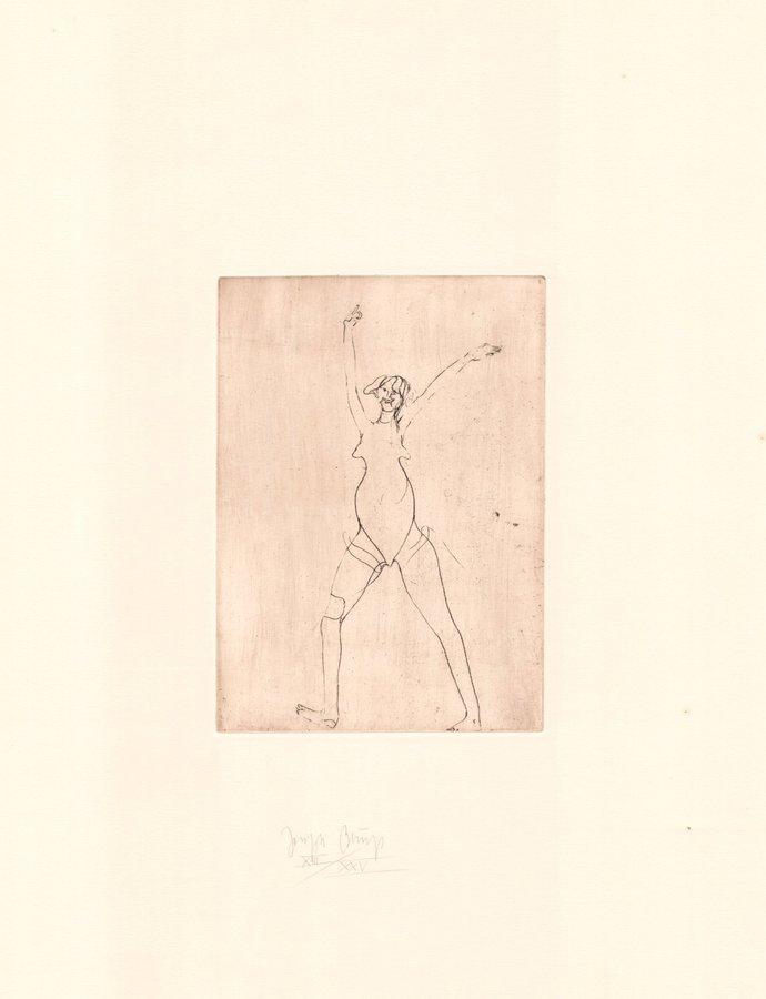 Joseph Beuys Zirkulationszeit: Mädchen II Print