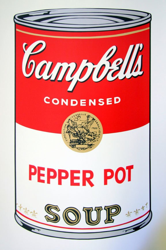 Andy Warhol Campbells Soup Pepper Pot Serigraph Sunday B. Morning