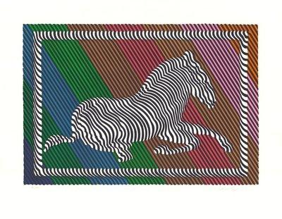 Victor Vasarely Grafik Zebra No. 3 (III)