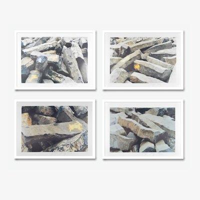 Joseph Beuys 7000 Eichen Grafiken Set 4 Offset Drucke