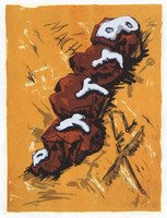 Jörg Immendorff BrrrD Grafik Serigrafie