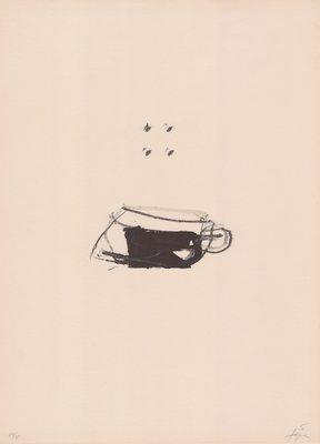 Antoni Tapies Print Clau Del Foc X