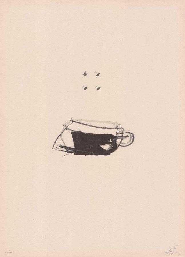 Antoni Tapies Bild Grafik Clau del Foc X