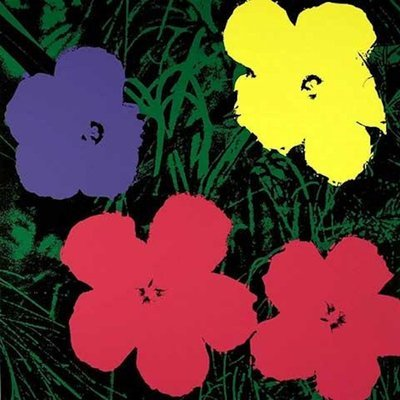 Andy Warhol Flowers Serigraph Sunday B. Morning Pink Black
