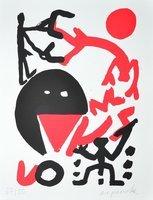 A.R. Penck Grenzlinie Print Serigraph