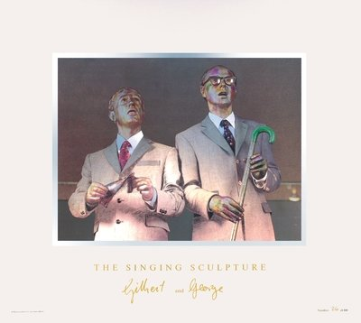 Gilbert & George The Singing Sculpture 1969-91 Grafik Reliefdruck