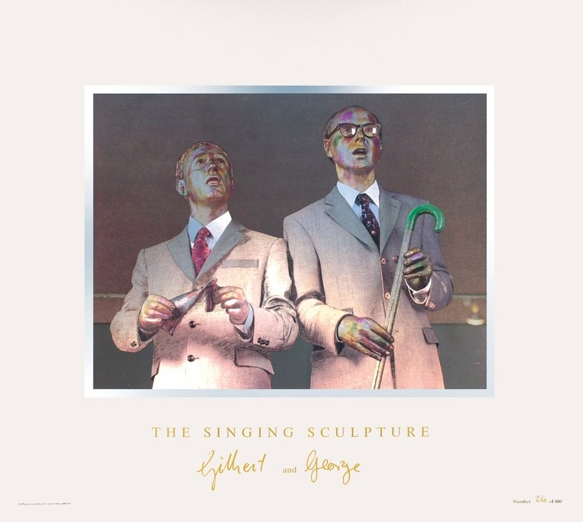 Gilbert & George The Singing Sculpture 1969-91 Grafik Reliefdruck