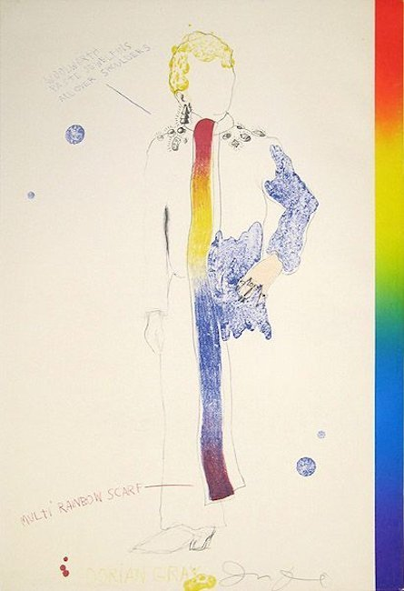 Jim Dine Dorian Gray, Rainbow Grafik Lithographie