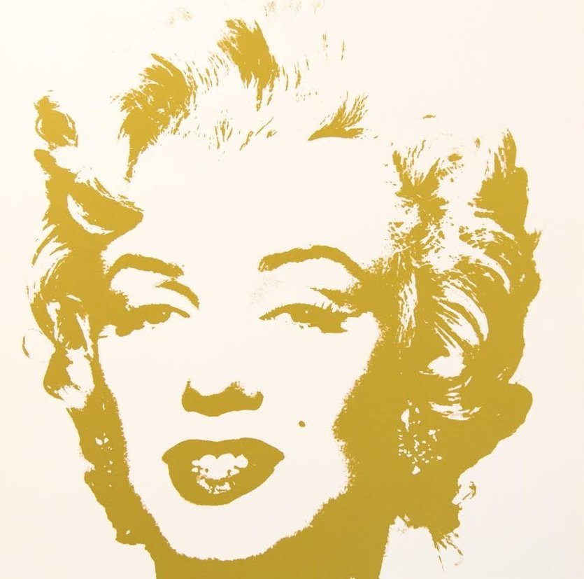 Andy Warhol Golden Marilyn VII Sunday B. Morning Siebdruck