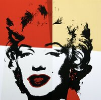 Andy Warhol Golden Marilyn IV Siebdruck Sunday B. Morning