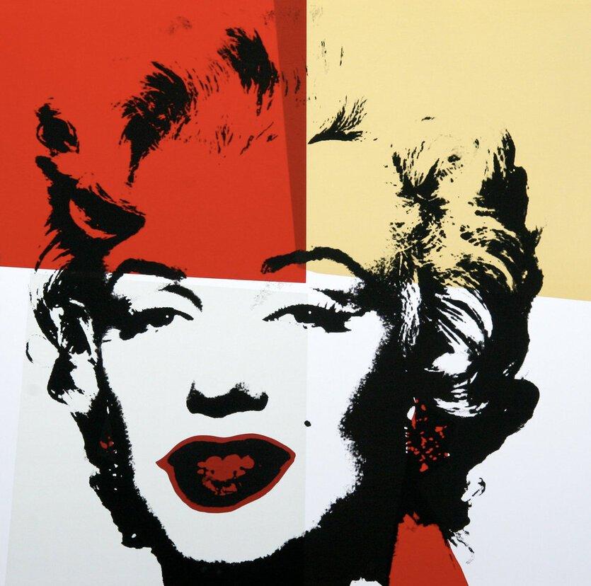 Andy Warhol Golden Marilyn IV Serigraph Sunday B. Morning
