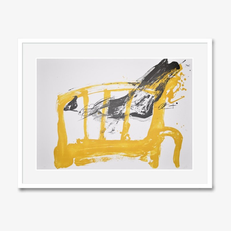 Antoni tapies lithograph print chaise et pied for sale for Chaise 1 pied
