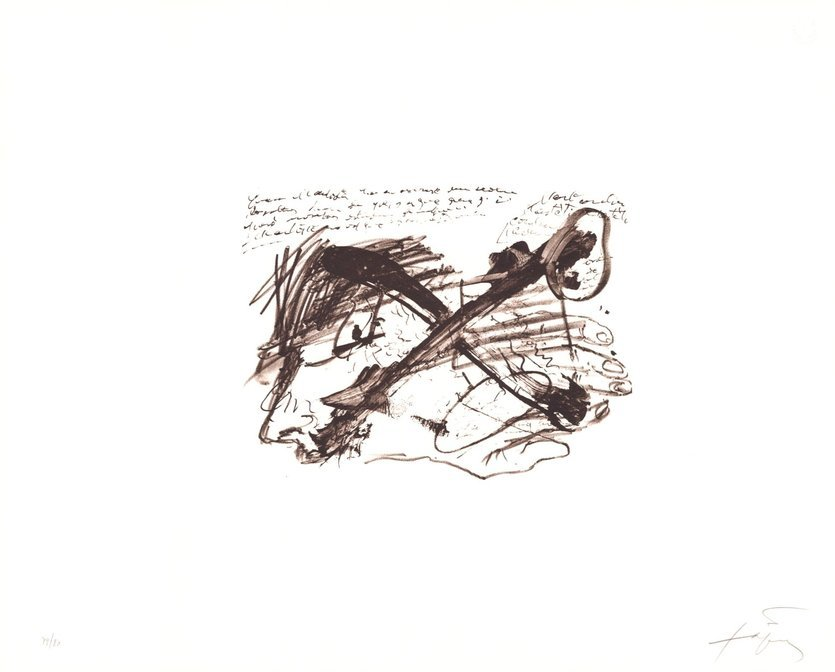Antoni Tapies Lithograph Ecriture