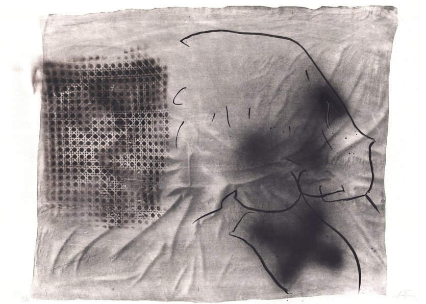 Antoni Tapies Grafik Variations X: Cannage