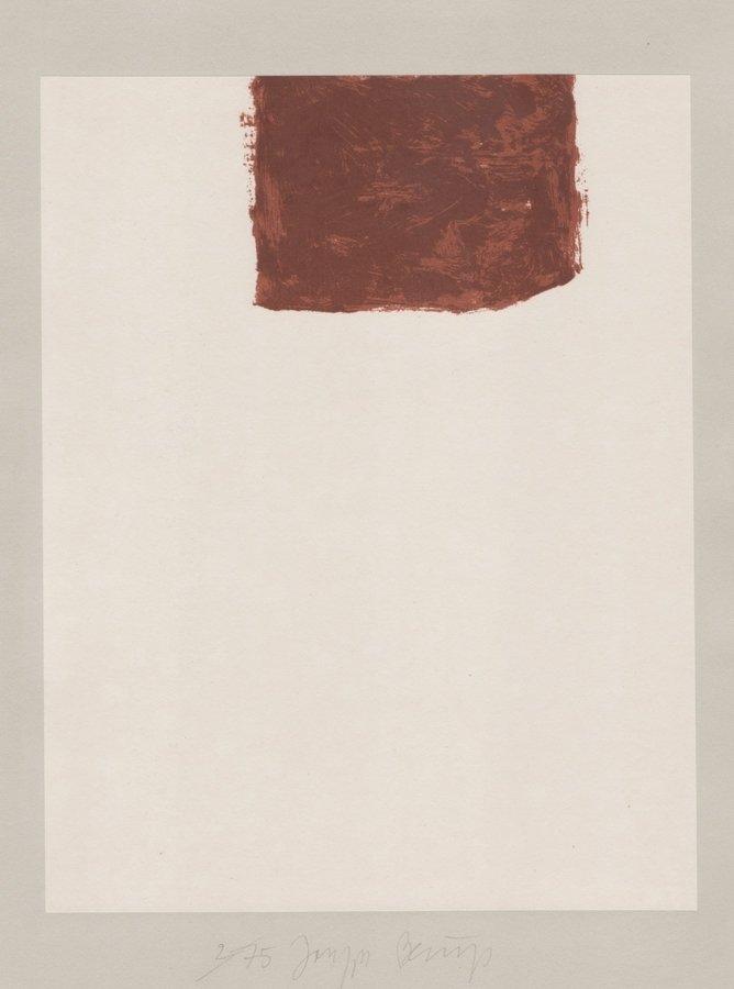 Joseph Beuys Lithograph Schwurhand: Wandernde Kiste Nr. 4