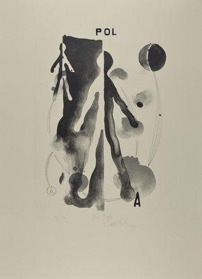 Carsten Nicolai Grafik Farblithographie Pol-Figur