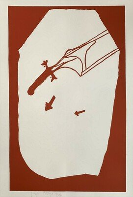 Joseph Beuys Elch in der Strömung Serigraph Print