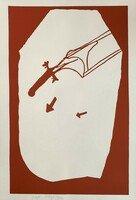 Joseph Beuys Elch in der Strömung Siebdruck Grafik