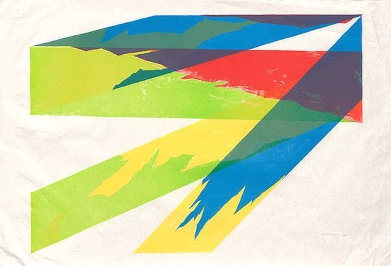 Piero Dorazio Lithographie Grafik Luceombra