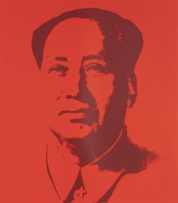 Andy Warhol Mao Red Serigraph Sunday B. Morning
