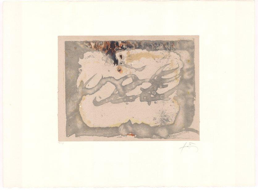 Antoni Tapies Grafik Radierung Muntayes