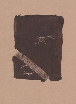 Antoni Tapies Print Llambrec Material V