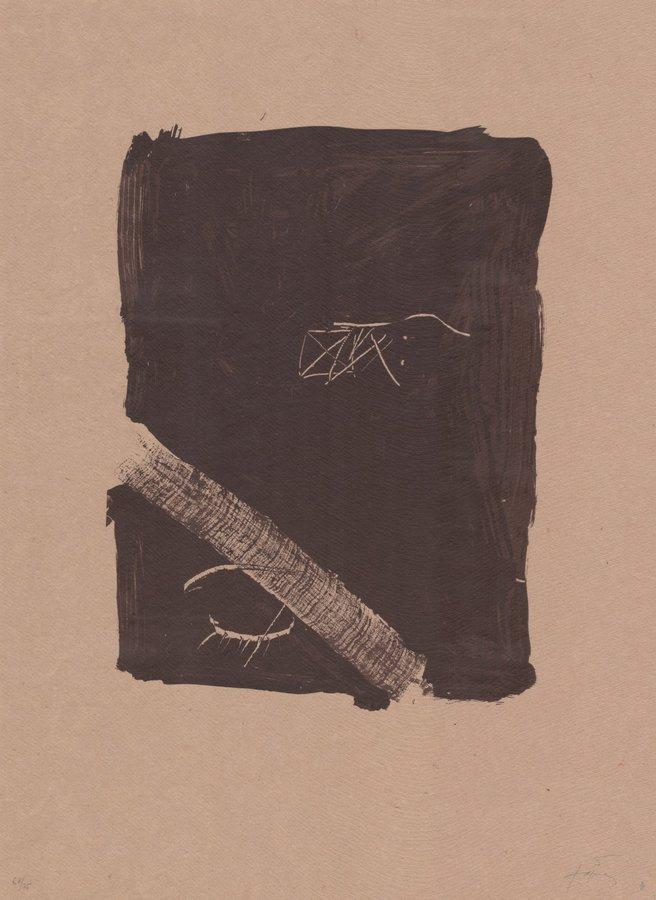 Antoni Tapies Druck Grafik Llambrec material V