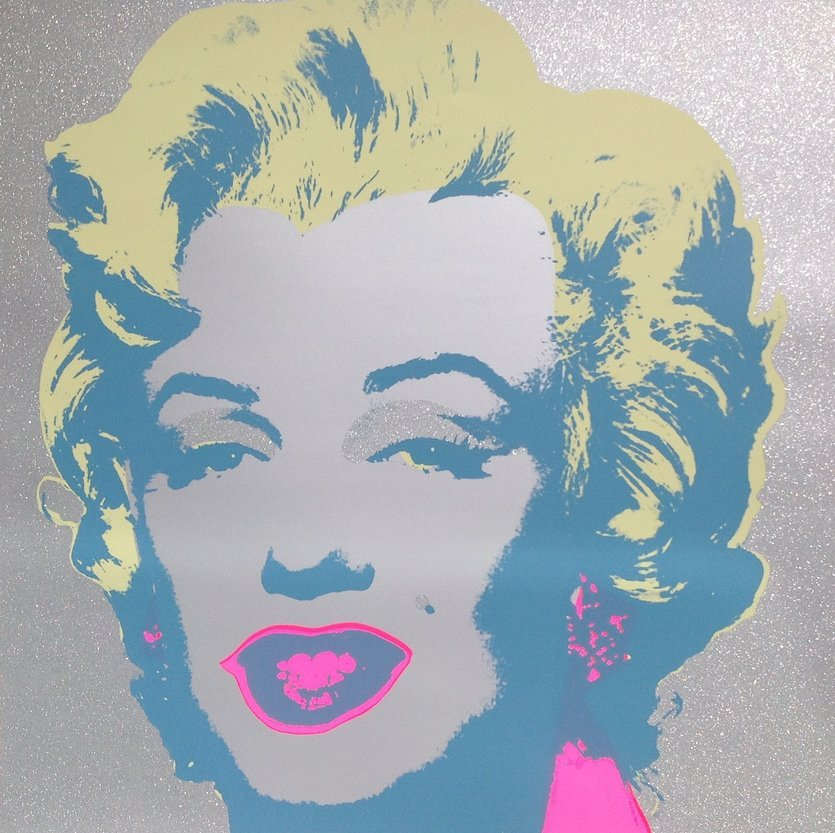 Andy Warhol Diamond Dust Marilyn Serigraph Sunday B. Morning
