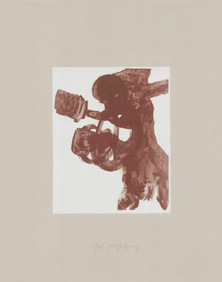 Joseph Beuys Druckgrafik Schwurhand: Foetus