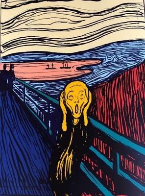 Andy Warhol The Scream Orange Serigraph Sunday B. Morning