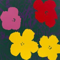 Andy Warhol Flowers Serigraph Yellow Green Sunday B. Morning