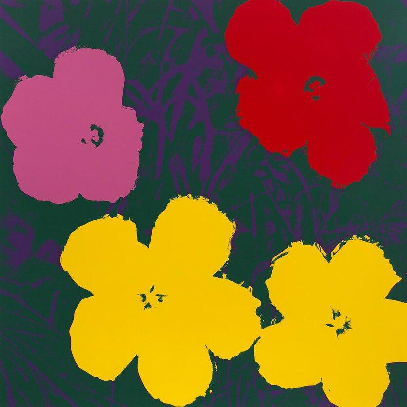Andy Warhol Flowers Siebdruck Gelb Grün Sunday B. Morning