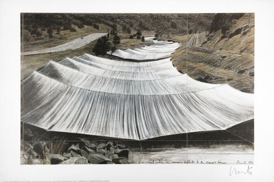 Christo Druck Over the River III Above