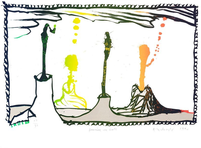 Pierre Alechinsky Print Lithograph Dernier en date