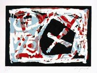 A.R. Penck Print Woodcut Untitled (1995)
