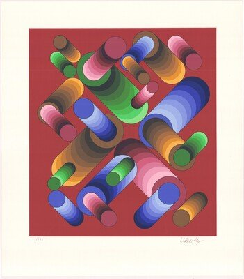 Victor Vasarely Print Oslop 3
