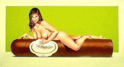 Mel Ramos Hav-a-Havanna #5 (Davidoff 2) Lithografie Grafik