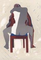 Norbert Tadeusz Bild Grafik Lithographie Sitzende