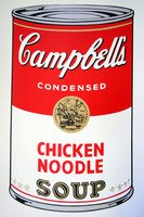 Andy Warhol Campbells Soup Chicken Noodle Serigraph Sunday B. Morning